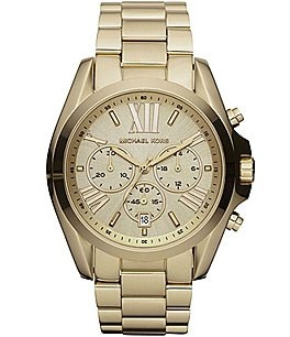 Image of Michael Kors Bradshaw Goldtone Stainless Steel 3 Hand Watch