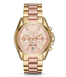 Image of Michael Kors Bradshaw Two-Tone Chronograph Watch