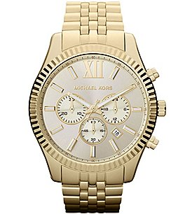 Image of Michael Kors Lexington Stainless Steel Chronograph Bracelet Watch