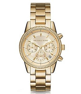 Image of Michael Kors Ritz Chronograph & Date Bracelet Watch