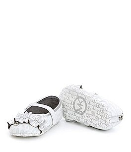 Image of MICHAEL Michael Kors Girls' Baby Flower Ballerina Crib Shoes