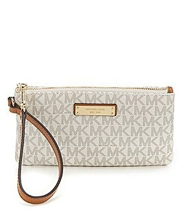 Image of MICHAEL Michael Kors Jet Set Signature Medium Wristlet