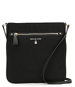 Image of MICHAEL Michael Kors Kelsey Nylon Large Cross-Body Colorblock Bag