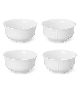 Image of Mikasa 4-Piece Antique White Porcelain Cereal Bowl Set