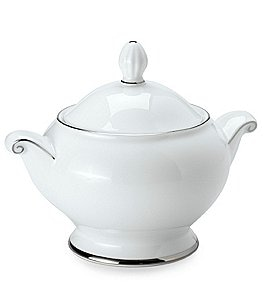 Image of Mikasa Cameo Platinum Porcelain Sugar Bowl with Lid