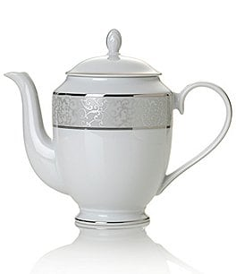 Image of Mikasa Parchment Ivy Scroll Platinum Porcelain Coffeepot