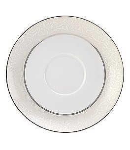 Image of Mikasa Parchment Ivy Scroll Platinum Porcelain Saucer