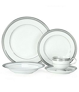 Image of Mikasa Platinum Crown Filigree 5-Piece Place Setting