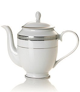 Image of Mikasa Platinum Crown Filigree Platinum Porcelain Coffeepot