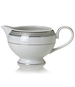 Image of Mikasa Platinum Crown Filigree Platinum Porcelain Creamer