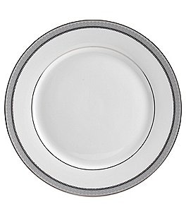 Image of Mikasa Platinum Crown Filigree Platinum Porcelain Dinner Plate