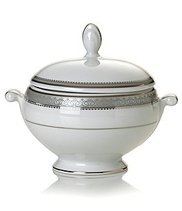 Image of Mikasa Platinum Crown Sugar Bowl with Lid