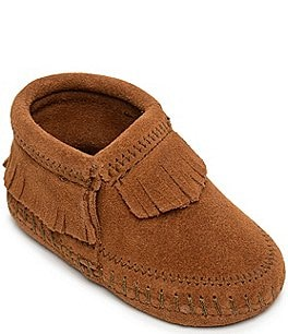Image of Minnetonka Girls' Riley Suede Booties