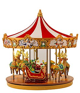 Image of Mr. Christmas Very Merry Light-Up Musical Carousel