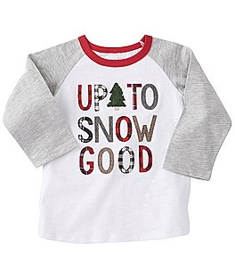 Image of Mud Pie Baby Boys 12-24 Months Christmas Up To Snow Good Tee