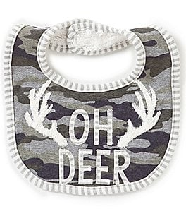 Image of Mud Pie Baby Boys Oh Deer Camo Bib