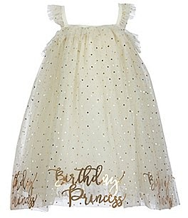 Image of Mud Pie Baby Girls Baby/Little Girls 12 Months-5T Birthday Princess Dotted Dress