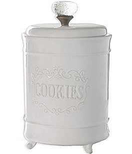 Image of Mud Pie Circa Glass Door Knob Footed Cookie Jar