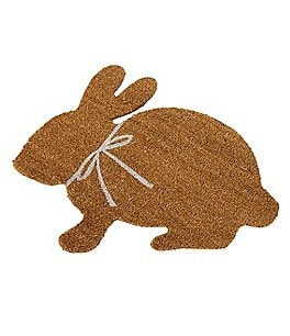 Image of Mud Pie Easter Collection Bunny-Shaped Doormat