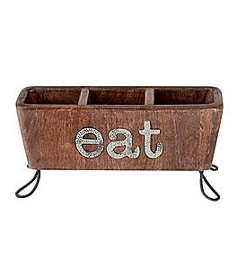 Image of Mud Pie Eat Flatware Caddy
