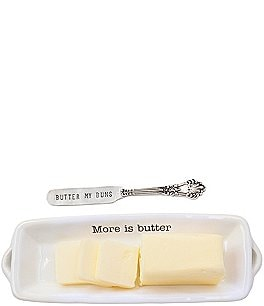 Image of Mud Pie Festive Fall Collection Butter Dish Set