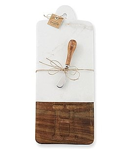 Image of Mud Pie Initial Marble & Wood Cutting Board
