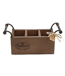 Image of Mud Pie Maison Mango Wood Utensil Holder