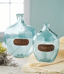 Image of Mud Pie Farmhouse Vintage Glass Vase
