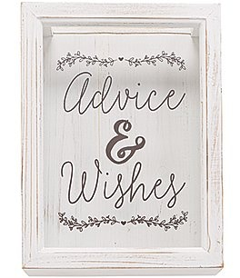 Image of Mud Pie Wedding Collection Advice & Wishes Keepsake Box