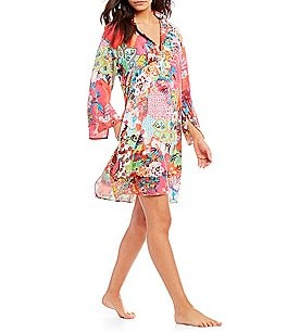 Image of N by Natori Spring Mirage Challis Sleepshirt