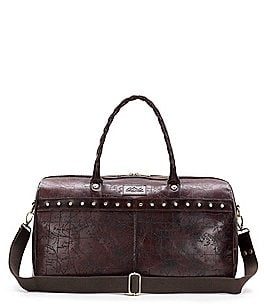 Image of Patricia Nash Laser Map Riviera Studded Duffel