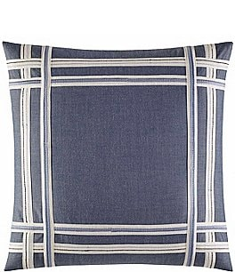 Image of Nautica Fairwater Embroidered Chambray Square Pillow
