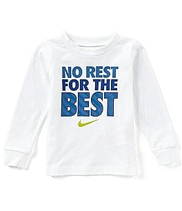 Image of Nike Baby Boys 12-24 Months No Rest For The Best Long-Sleeve Tee