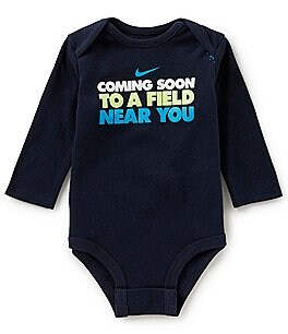 Image of Nike Baby Boys Newborn-12 Months Coming Soon To A Field Near You Long-Sleeve Bodysuit