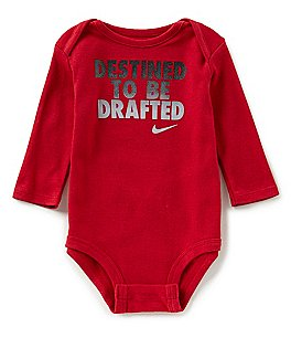 Image of Nike Baby Boys Newborn-12 Months Destined To Be Drafted Long-Sleeve Bodysuit