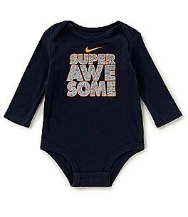 Image of Nike Baby Boys Newborn-12 Months Super Awesome Long-Sleeve Bodysuit