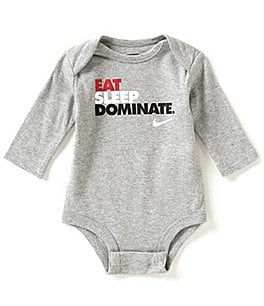 Image of Nike Newborn-12 Months Eat Sleep Dominate Long-Sleeve Bodysuit