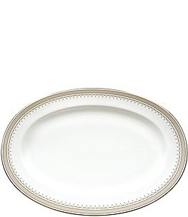 Image of Nikko Lattice Gold Bone China Oval Platter