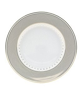 Image of Nikko Lattice Gold Scalloped Bone China Salad Plate
