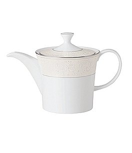 Image of Nikko Pearl Symphony Scroll Bone China Beverage Pot