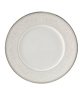Image of Nikko Pearl Symphony Scroll Bone China Dinner Plate