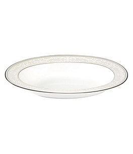Image of Nikko Pearl Symphony Scroll Bone China Oval Vegetable Bowl