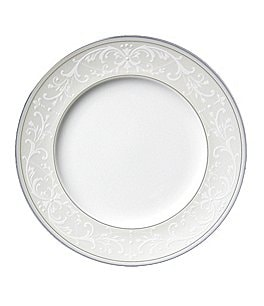 Image of Nikko Pearl Symphony Scroll Bone China Salad Plate
