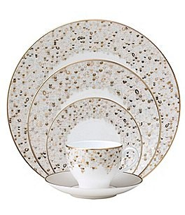 Image of Nikko Spangles Shimmering Bone China 5-Piece Place Setting