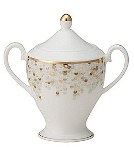 Image of Nikko Spangles Shimmering Bone China Sugar Bowl with Lid