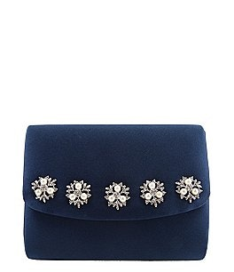 Image of Nina Dabney Satin Pearl Clutch