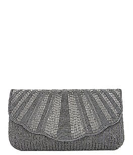 Image of Nina Lacey Metallic Beaded Clutch