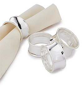 Image of Noble Excellence Bead Elegance Napkin Rings Set of 4