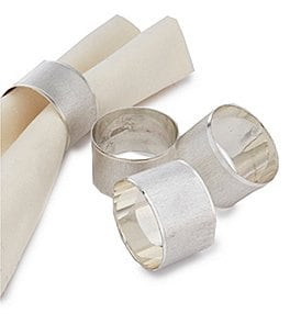 Image of Noble Excellence Holiday Florentine Napkin Rings, Set of 4