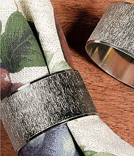 Image of Noble Excellence Florentine Plated Metal Napkin Ring